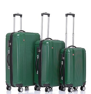 עדכני סט מזוודות SWISS   מזוודות קשיחות   מזוודות   swissbag KJ-24